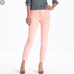 J Crew peach light pink city fit ankle pant Sz 4